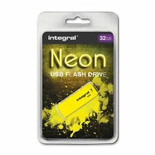 Integral 32GB Neon USB Stick - in Yellow, a **GADGET SHOW AWARD WINNER**