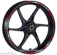 TRIUMPH DAYTONA 1200 - Adesivi Cerchi – Kit ruote modello tricolore corto