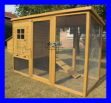 CHICKEN COOP HEN HOUSE POULTRY ARK RABBIT HUTCH RUN NEW LARGE DUCK  BIRDS