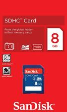 GENUINE SANDISK 8GB SDHC MEMORY CARD FAST SPEED FOR DIGITAL CAMERA SD CARD NEW