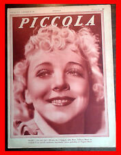 1935 - PICCOLA magazine VIRGINIA BRUCE BETTE DAVIS MARION DAVIES MARCELLE CHANTA