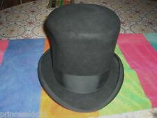 Vintage Black Top Hat Mad Hatter Abe Lincoln Costume sz 7 Dorfman Pacific