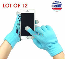 Wholesale Lot of 12 Touch Screen Gloves Smartphone Tablet Pad US Stock (BLUE)