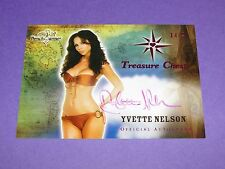 2014 Benchwarmer YVETTE NELSON Treasure Chest Auto/25 JUST GO WITH IT Fredericks