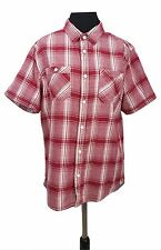 WHITE STUFF Shirt Size XL Slim Fit White Red Check Cotton Casual Summer Holiday
