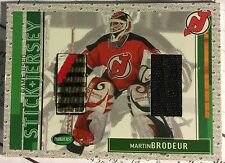2002-03 Parkhurst Martin Brodeur Game-Used Stick & Jersey Combo