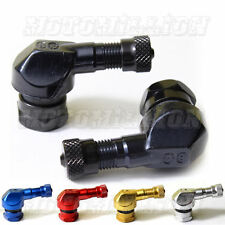 90 Degree Angled Aluminum Tire Valve Stems BMW HONDA BLACK