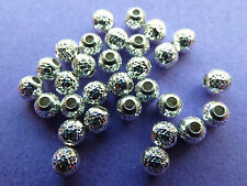 4.0mm argent sterling 925 ronde facette spacer beads 10pcs.