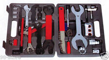 UNIVERSAL BICYCLE HOME MECHANIC 44 PC TOOL KIT SET REPAIR With A Case
