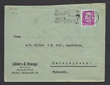 1936 Germany Perfin 40pf Cover To Finland