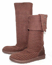 UGG AUSTRALIA 5819 Wo's 7 Eu 38 Brown Classic Cardy Knit Crochet Boot
