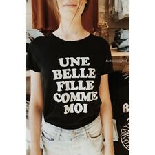 brandy melville black Fitted Margie Une Belle Fille Comme Moi graphic  top NWT
