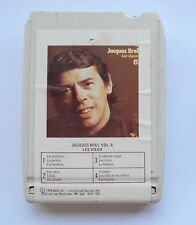 JACQUES BREL Les vieux CANADA 8 TRACK TAPE CARTRIDGE CARTOUCHE 8 PISTES FRENCH