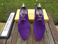 Vt664 JOHN LOBB-Willoughby-Regal Daim Violet-UK 6,5 F - 8000 dernier