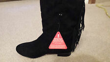 LADIES ( REAL )  SUEDE ANKLE BOOTS.  SIZE 7/40   NEW WITH TAGS (BLACK)