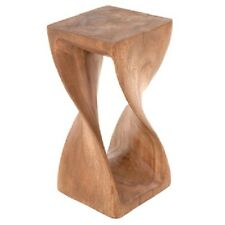 Small Twisted Side Table/Stool/Solid Acacia Wood/Lamp Table/Plant Stand/Waxed