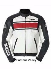 New Mens YAMAHA Motorcycle RacingBiker 100%Cowhide Leather Jacket ALLSIZES.