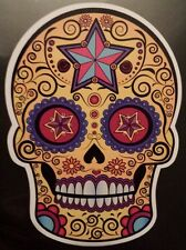 Mexican candy sugar skull day of the dead laptop sticker halloween tablet 204