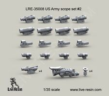 Live Resin 1:35 US Army Scope Set 2 ACOG Elcan + Kill Flash EOTEch Etc #LRE35008