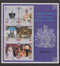 COOK ISLANDS USED STAMP MINIATURE SHEET 1977 SILVER JUBILEE OF QEII