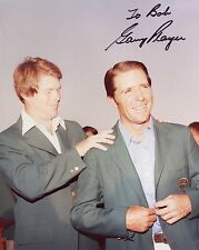 GARY PLAYER HAND SIGNED 8x10 COLOR PHOTO+COA     MASTERS GREEN JACKET     TO BOB