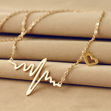 Heart beat love necklace electrocardiogram pendant necklace