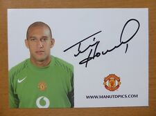 2005-06 Tim Howard Signed Man Utd Club Card (5681)
