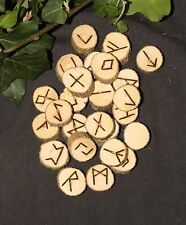 Small Buddleia Elder Futhark Runes - with Bag & Information - Divination