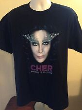 VINTAGE CHER 2014 DRESSED TO KILL TOUR T SHIRT LARGE