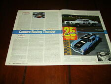 1970 JIM HALL CHAPARRAL CAMARO Z28 RACE CAR   ***ORIGINAL 1991 ARTICLE***