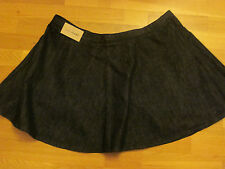 next ladies black denim flare short skirt size 12 eur 40 brand new with tags