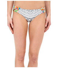 RIP CURL MAYAN SUN LUXE HIPSTER BIKINI SWIM BOTTOMS GREY MULTI SMALL NEW! $44