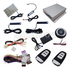 Top Smart PKE Car Alarm System W Remote Starter Push Start Touch Password Entry