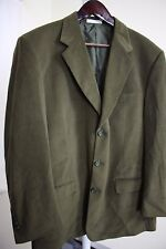 NWT Cordovan & Grey, Ltd 100% Polyester Green Lined 3 Button Blazer Size - 44R