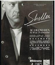 Publicité Advertising 1987 Concert Tournée William Sheller