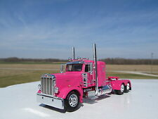DCP 1/64 SCALE 389 PETERBILT SMALL BUNK PINK LONG WHEEL BASE WTI FENDERS