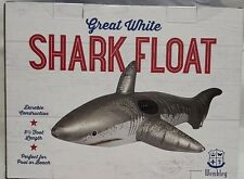 Wembley Great White Shark Inflatable Ride-On Pool Float, 5.5 Feet Long