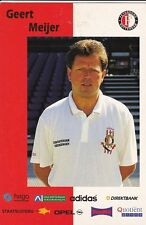 FOOTBALL carte trainer GEERT MEIJER équipe FEYENOORD ROTTERDAM