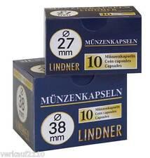 100 Lindner Münzkapseln / Münzdosen Gr. 41 z. B. für 1 Unze Amer. Eagle (Silber)