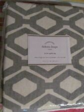 POTTERY BARN DAKOTA DIAMOND PRINT DRAPE 1 PANEL 50 X 96 GRAY NEW