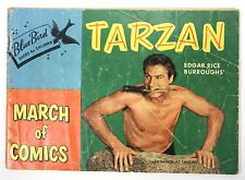 "1953 No. 98 Tarzan Comic Book - March of Comics Lex Barker Blue Bird 5""X8"" Size"