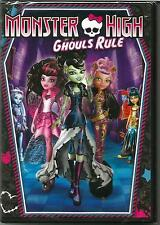Monster High: Ghouls Rule (DVD, 2012) NEW no slipcover