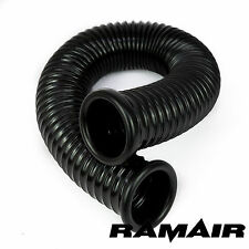 Ramair Black PVC Flexible Cold Air Feed Ducting 76mm ID x 2000mm - 2 End Cap