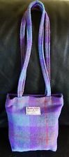Harris Tweed light heather coloured two strapped shoulder bag