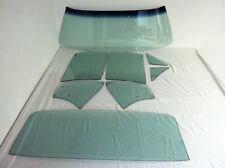 1967 CAMARO OR FIREBIRD COMPLETE WINDSHIELD SIDES & BACK GLASS 8PCS GREEN