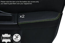 GREEN STCH 2X FRONT DOOR ARMREST LEATHER COVER FOR SUBARU IMPREZA WRX STI 01-04