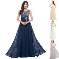 CHEAP~ Women Chiffon Evening Long Formal Prom Party Ball Gown Bridesmaid Dresses