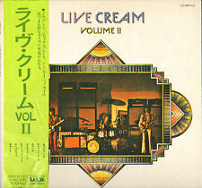 "CREAM / ERIC CLAPTON ""LIVE CREAM VOL. II"" ROCK LP RSO MV-2127"