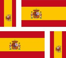 4x spain spanish flag decals sticker bike scooter car vinyl luggage helmet