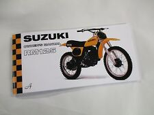 New Suzuki RM125  owners manual  1976   RM125A